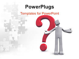 powerpoint template a person with a question mark and puzzle