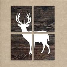 deer prints printable rustic home decor wood background