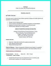 financial analyst resumes entry level data analyst resume 2017 resume builder
