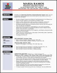 Teaching Resume Samples Elementary Teacher Resume Examples Http Www Resumecareer Info