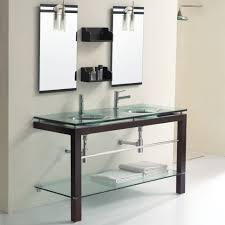 Glass Bathroom Vanity Jjt Trading Vg126 Tempered Glass Bath Vanity