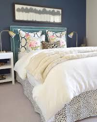 upholstered headboard dalmatian print bed skirt zdesignathome