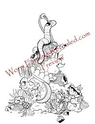 worm farming coloring book