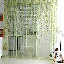 Shimmer Sheer Curtains Surpass Shimmery Willow Branch Printed Rod Pocket Sheer Curtain
