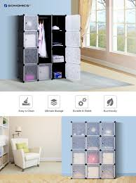 amazon com songmics update plastic wardrobe diy portable closet