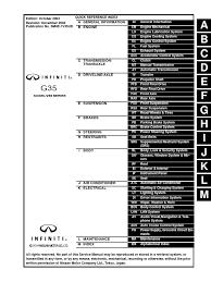 2004 Infiniti G35 Sedan Service Repair Manual Pdf Airbag Gasoline