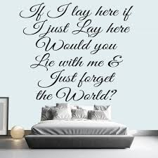 10 wall art decals uk text quotes wall stickers wallartdirectcouk chasing cars love song lyrics wall sticker music decor art decals