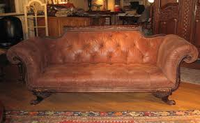 Leather Tufted Sofa by Duncan Phyfe Sofa Tufted High Quality Leather