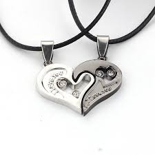 couples necklace i you s necklace of heart shape pendant necklace the