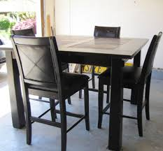 Espresso Bistro Table Pub Style Dining Sets Casual Outdoor Dinette Design With