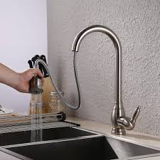cer kitchen faucet brass bar sink faucet with pull sprayer modern single