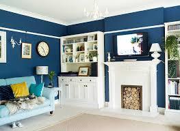 blue livingroom stylish blue living room makeover real homes