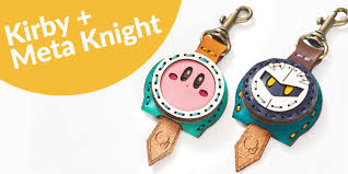 kirby 25th anniversary pupupu leather key cover includes tom