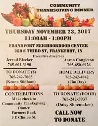 thanksgiving community dinner sets date and calls for volunteers
