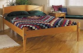 shaker bed woodworking plan from wood magazine