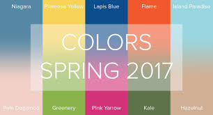Pantone Spring Colors 2017