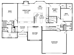 one story house blueprints captivating single story ranch house plans photos best