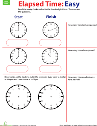 time goes by calculate elapsed time 1 worksheet education com