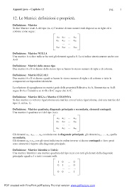 dispense analisi 1 le matrici riassunto analisi 1 docsity