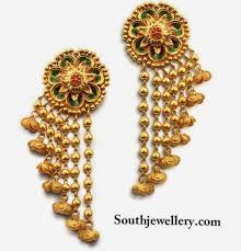 stylish gold earrings stylish gold earrings jewellery designs