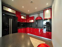 red and black kitchen designs red black kitchen cabinets best