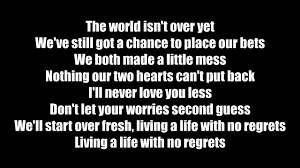 magic no regrets lyrics new hd 2017 youtube