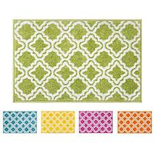 Trellis Kitchen Rug Kapaqua Rubber Backed Fancy Moroccan Doormat Accent