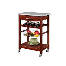 momentous rolling kitchen island marble top with wire pull out