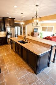 kitchen design countertops big kitchen design with double kitchen island made of wood with