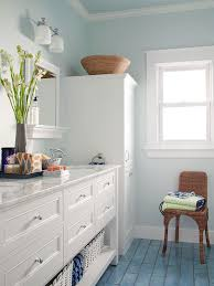 smokey blue bathroom design ideas