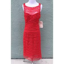 vera wang red lace dress u2013 size 8