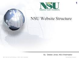 Webmaster Nsu Website Structure By Debbie Jones Nsu Webmaster 1 Nsu Web