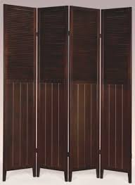 amazon com 4 panel wood room divider white kitchen u0026 dining