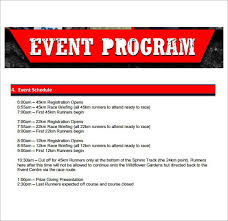 event planner template templates and samplessample event