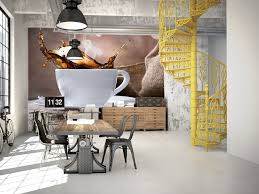 tapisserie pour cuisine papier peint cuisine déco café pas cher poster mural hexoa
