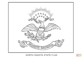 flag of north dakota coloring page free printable coloring pages