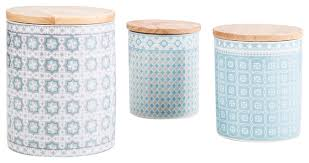 kitchen canisters and jars andalusia porcelain jars set of 3 modern kitchen canisters