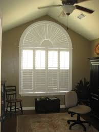 side view of shutters in a bow window framed beautiful bow