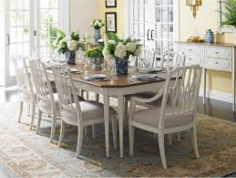 stunning white wood dining table on home decor interior design