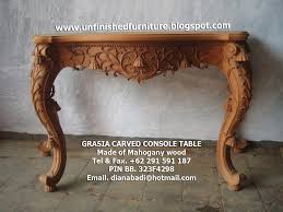Unfinished Console Table Unfinished Mahogany Furniture Luxury Grasia Carved Console Table