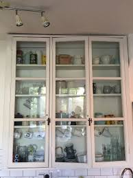 vintage glass front kitchen cabinets charming vintage kitchen cabinet with glass front
