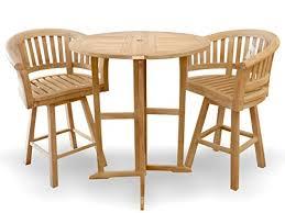 Drop Leaf Bar Table Windsor U0027s Genuine Grade A Teak Nassau 39 U2033 Round Dropleaf Bar Table