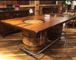 whiskey barrel bar table jack coffee table etsy