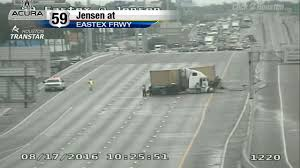Houston Transtar Traffic Map Eastex Freeway Reopens After Jackknifed Truck Prompts Closure