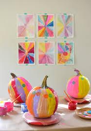 painting pumpkins with kids artbar