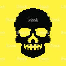 halloween pixel background pixel skull background stock vector art 468313954 istock