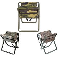 deluxe camo folding camp stool w pouch woodland acu digital
