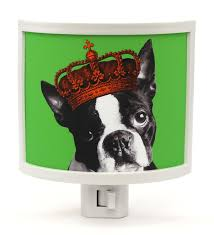 zulily home decor boston terrier night light dog in crown cute and 25 similar items