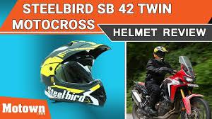 motocross helmet review steelbird sb 42 twin motocross helmet review special feature