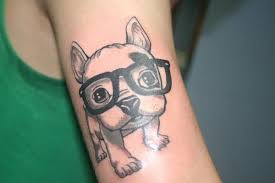 puppy with glasses tattoo photo 3 photo pictures and sketches